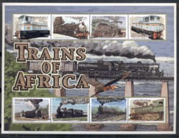 Uganda 2000 Trains Sheetlet #2 MUH - Uganda (1962-...)