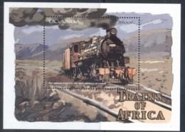 Uganda 2000 Trains, East African Railways MS MUH - Uganda (1962-...)