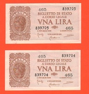 1 + 1 Lira 1944 RSI Numeri CONSECUTIVI - [ 1] …-1946 : Kingdom