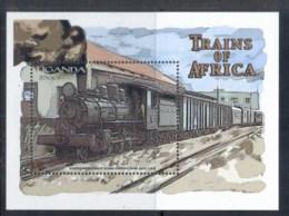 Uganda 2000 Trains, Rhodesian Railways MS MUH - Uganda (1962-...)
