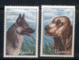 Uganda 2001 Canine Friends, Dogs MUH - Uganda (1962-...)
