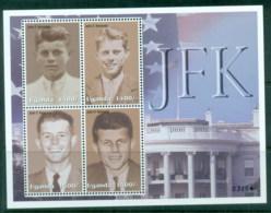 Uganda 2002 JFK, Kennedy 1400/- MS MUH - Uganda (1962-...)