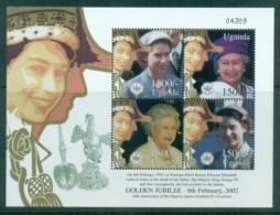 Uganda 2002 QEII Golden Jubilee 1500/- MS MUH - Uganda (1962-...)