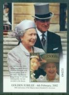 Uganda 2002 QEII Golden Jubilee 3500/- MS MUH - Uganda (1962-...)