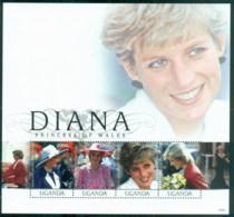 Uganda 2007 Princess Diana In Memoriam, 10th Anniv., The Queen Of Hearts MS MUH - Uganda (1962-...)