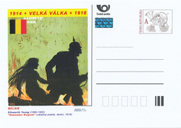 "Rep. Ceca / Cart. Postali (Pre2015/05) Grande Guerra, 15 Belgio: Elisworth Young (1866-1952) ""Remember Belgium"" (1918) - Buste"
