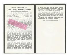 P 622. E.Pater ANDREAS CALLEBAUT - °ST.JANS MOLENBEEK 1876 / Int. College St. Bonaventura  FLORENTIE - +MECHELEN 1958 - Devotion Images