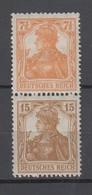 Deutsches Reich , S7 Mit Falzrest , Katalogwert 140 Euro - Se-Tenant