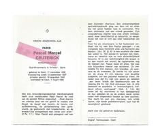 P 623. PATER P.M. CEUTERICK - Oud-Missionaris KOLWEZI - ZAÏRE - GENT 1908 - 1985 - Devotion Images
