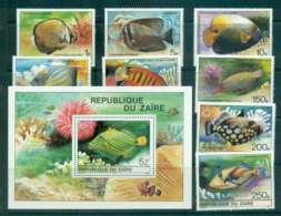 Zaire 1980 Fish + MS MUH Lot46300 - Stamps
