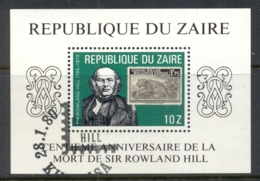 Zaire 1980 Rowland Hill MS FU - Stamps