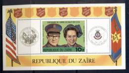 Zaire 1980 Salvation Army MS MUH - Stamps