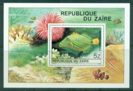 Zaire 1980 Tropical Fish MS MUH - Stamps