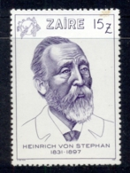 Zaire 1981 UPU Founder Heinrich Von Stephan (light Tone Spots) MUH - Stamps