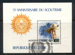 Zaire 1982 Scouting Year, Baden Powell MS FU - Stamps