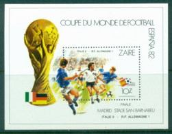 Zaire 1982 World Cup Soccer, Spain MS MUH - Stamps