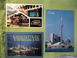 LOT DE 3 CPSM / CPA TORONTO. FIN XX° SIECLE 2 VUES GENERALES DONT 1 DE NUIT / 1 PUBLICITAIRE. LICHEE GARDEN FAMOUS CHIN - Toronto