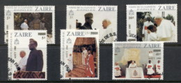 Zaire 1985 Pope John Paul II Opt Second Visit FU - Stamps