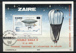 Zaire 1985 Sabena Airlines Opts MS FU - Stamps