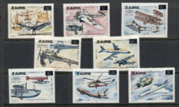 Zaire 1985 Sabena Airlines Opts MUH - Stamps