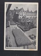 Dt. Reich AK Vorbeimarsch Auf Dem Adolf Hitler Platz - Weiden I. D. Oberpfalz