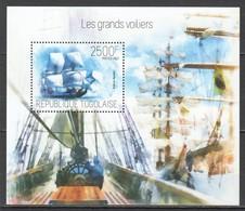 D686 2013 TOGO TRANSPORT SAIL SHIPS LES GRANDS VOILIERS 1BL MNH - Barcos
