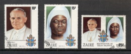 Zaire 1986 Beatification Of Sister Nengapeta (faults) FU - Stamps