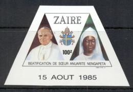 Zaire 1986 Beatification Of Sister Nengapeta Ex Ms MUH - Stamps