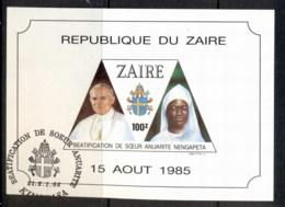Zaire 1986 Beatification Of Sister Nengapeta MS FU - Stamps
