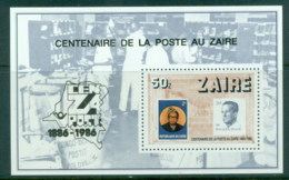 Zaire 1986 Centenary Of Post In Zaire MS MUH - Stamps