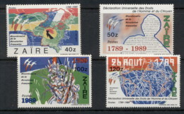 Zaire 1989 French Revolution Bicent. MUH - Stamps