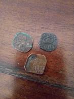 Lotto Di 3 Monete Di Milano Periodo Spagnolo 1600/1700 Quattrini Tra Filippo 3 E Carlo 6 - Antique
