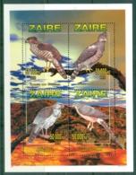Zaire 1996 Birds Of Prey, Raptors MS MUH - Stamps