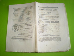 Lois 1821:Création Caisse D'Epargne De Brest.Fonds Des Coupes De Bois.Tarif Péage Canal Du Duc D'Angoulème. Legs... - Décrets & Lois