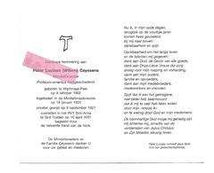 P 626. Pater LUCIAAN CEYSSENS - Professor-emeritus Kerkgesch. - °WIJCHMAAL-PEER 1902 /+ST-TRUIDEN 2001 - Devotion Images