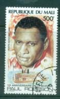 Mali 1986 Paul Robeson CTO - Mali (1959-...)