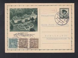 Czechoslovakia Stationery Uprated 1936 Holic To Berlin - Tschechoslowakei/CSSR