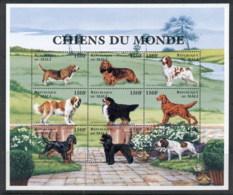 Mali 1997 Dogs 150f Sheetlet MUH - Mali (1959-...)