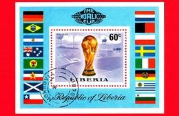LIBERIA - Usato - 1974  - Mondiali Di Calcio 1974, Germania - Monaco - Munich - FIFA-Cup - 60 - BF - Liberia