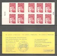 CARNET De Guichet 2000 - MARIANNE LUQUET. Y&T N° 3085-C6** Neuf. > 10t. TVP Rouge Type I. LA POSTE. Inscription RGR-2.TB - Carnets