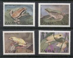 Zambia 1989 Frogs MUH - Zambia (1965-...)