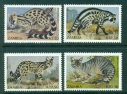 Zambia 1990 Small Carnivores MUH Lot26949 - Zambia (1965-...)