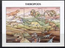 Zambia 1999 Prehistoric Animals, Dinosaurs Sheetlet MUH - Zambia (1965-...)
