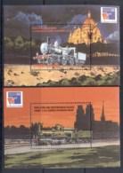 Zambia 1999 Trains, Philexfrance 2xMS MUH - Zambia (1965-...)