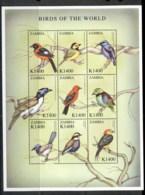 Zambia 2000 Birds Of The World Sheetlet MUH - Zambia (1965-...)