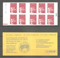 CARNET De Guichet 2000 - MARIANNE LUQUET. Y&T N° 3085-C6** ARISTO Neuf. > 10t. TVP Rouge LA POSTE. Daté Du 27.11.00. TB. - Carnets