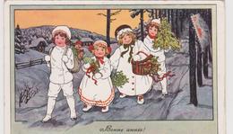 Carte Bonne Année  Enfants ( Illustrateur A K ) - Anno Nuovo
