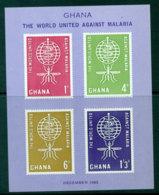 Ghana 1962 Malaria Eradication MS MUH Lot27596 - Ghana (1957-...)