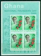 Ghana 1964 Founders Day MS MUH Lot27605 - Ghana (1957-...)