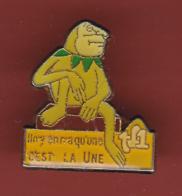 53772- Pin's .TF1.Mitterand La Grenouille... - Medias